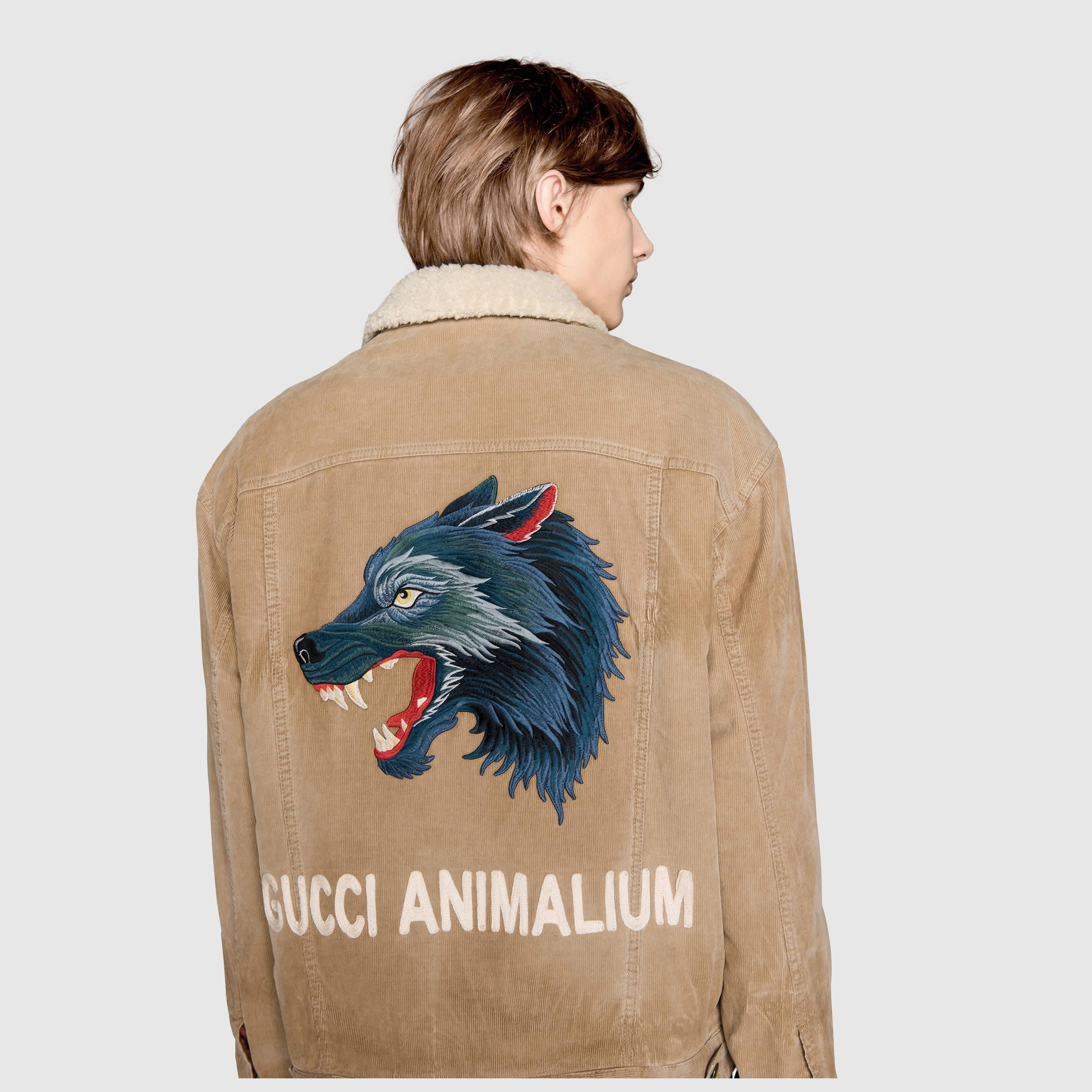 21c6e500b18 Gucci Embroidered corduroy jacket Detail 5