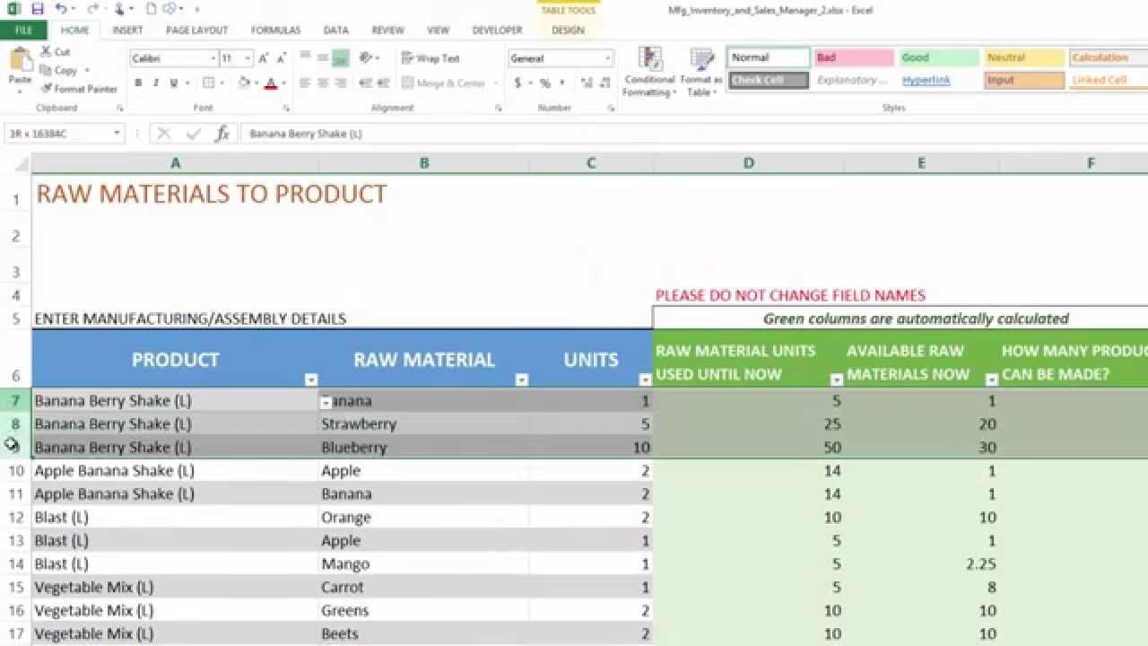 excel spreadsheet for inventory management in 2020 ...
