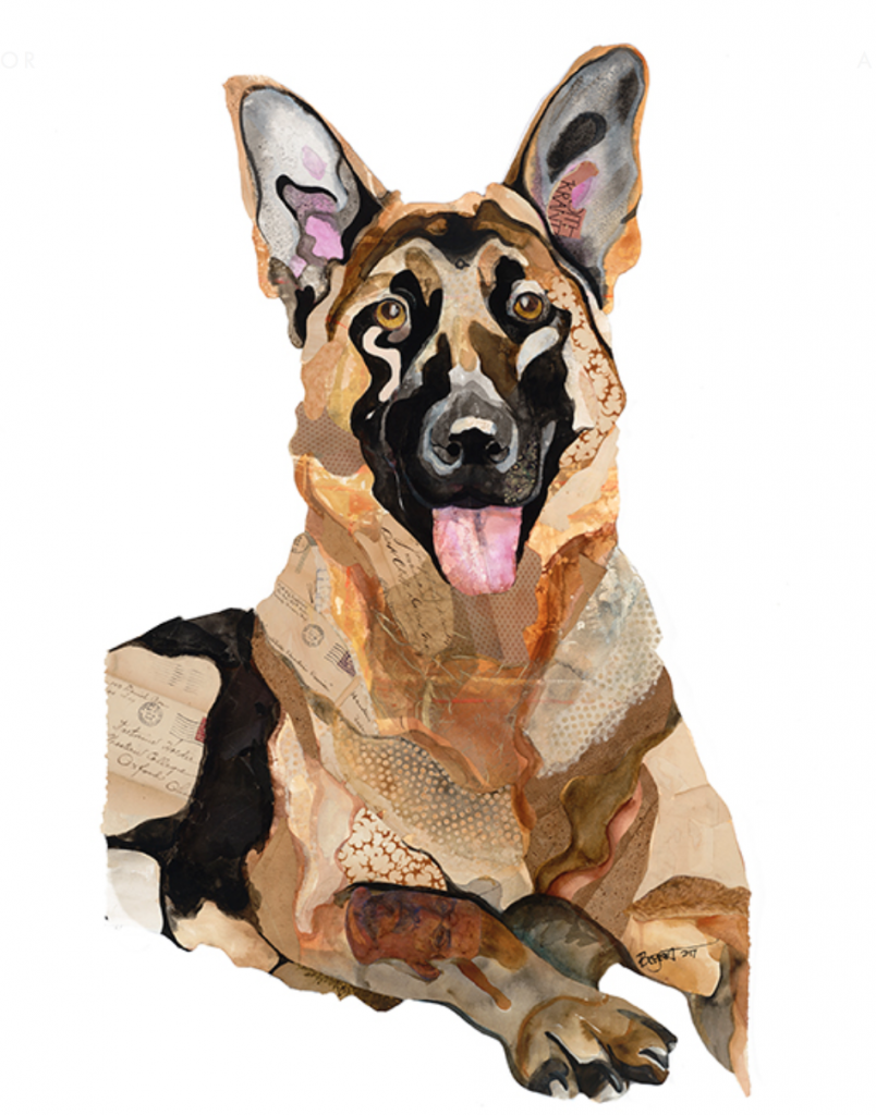 The Art Of Collage Brenda Bogart My Favorite Dogs Art Dog Art Collage