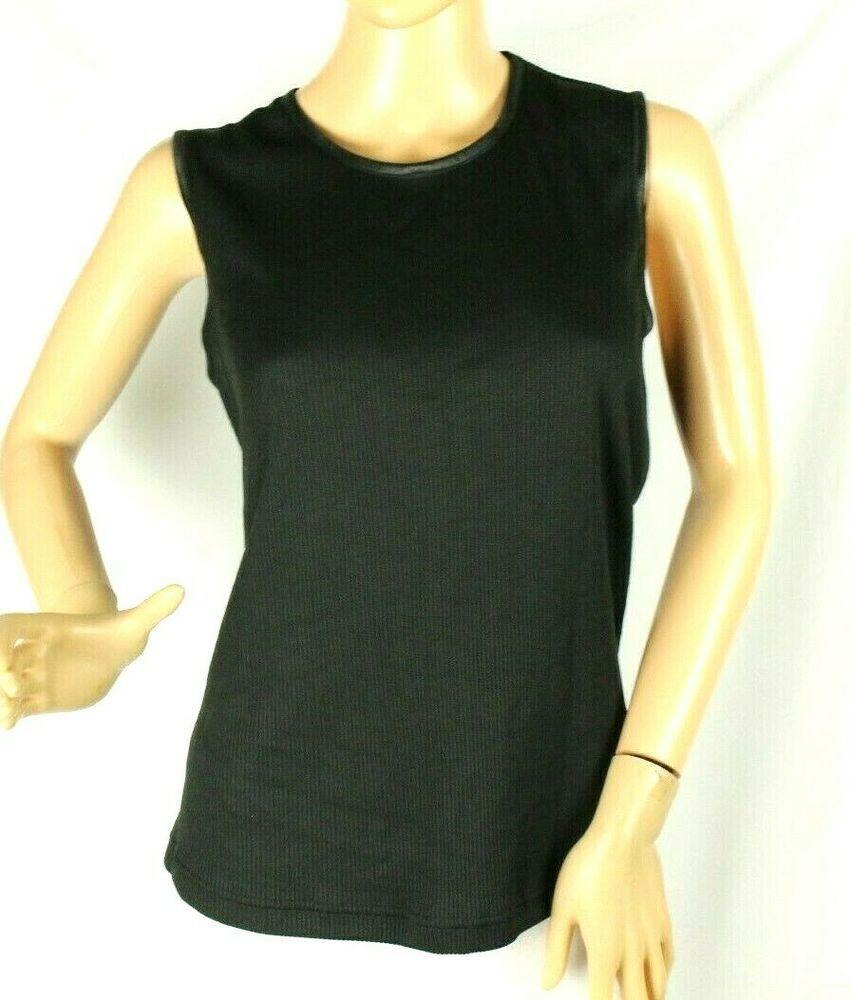 Alia Women S Black Ribbed Tank Top Shirt Size Pl Alia In 2020 Ribbed Tank Tops Fashion Sleeveless Top