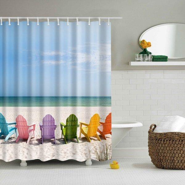 seaside beach starfish polyester fabric