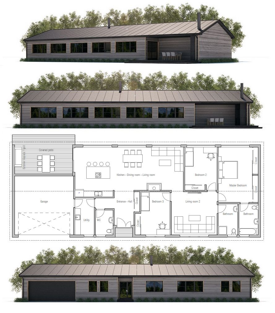 Affordable Home Ch305 Barn House Plans Modern Farmhouse Plans House Design