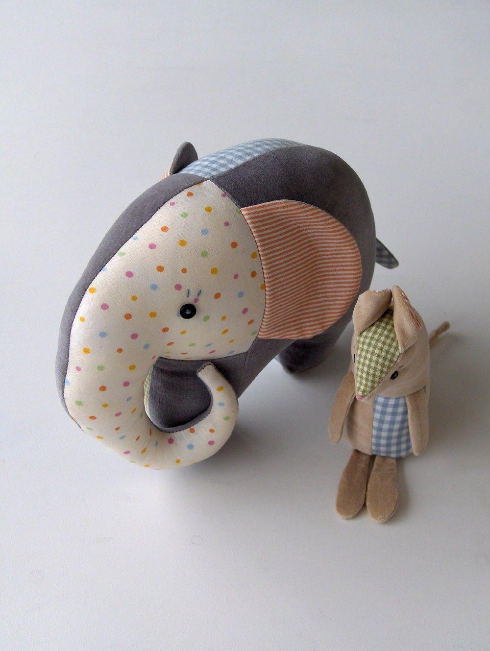 Piccabu Elephant and Molehill Mouse | Tiere nähen, Nähe und Nähen
