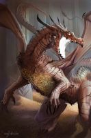 Smaug - Figures of Middle Earth by MattDeMino
