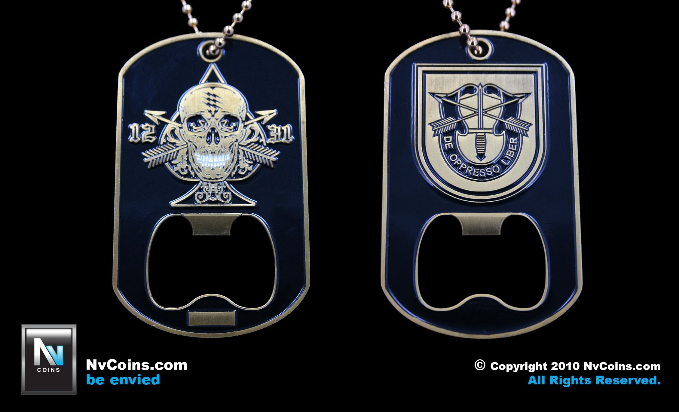 Bottle Opener Coin by NvCoins com   NvCoins com   Dog tags