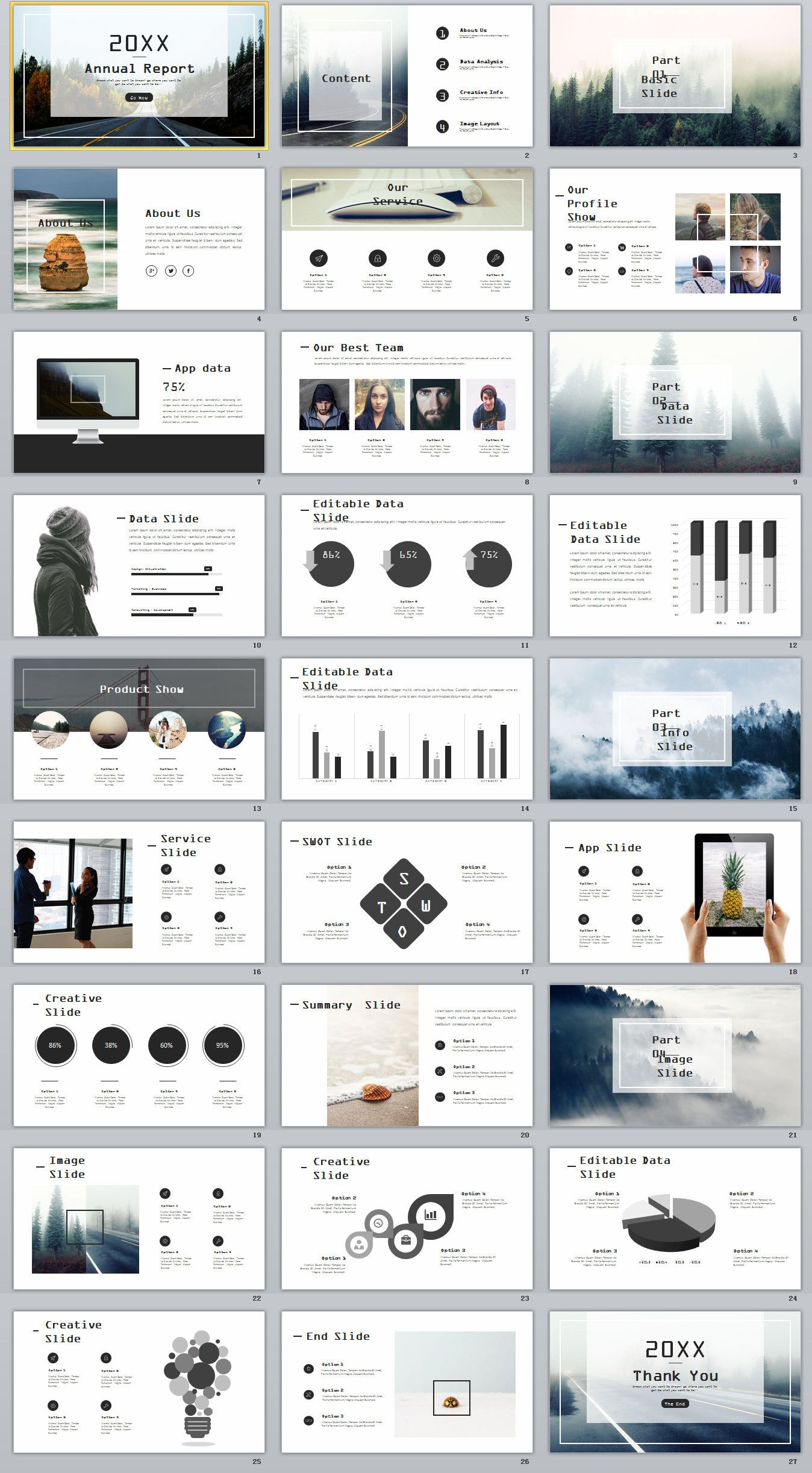 27 gray swot chart timeline powerpoint template powerpoint