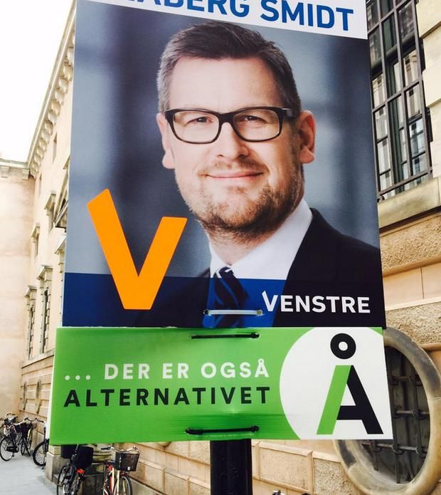 Election Posters: Venstre and Alternativet (Denmark: 2015) Morgenavisen Jyllands-Posten/Foto: Søren Juhler