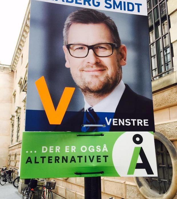 Election Posters: Venstre and Alternativet (Denmark: 2015) Morgenavisen Jyllands-Posten/Foto: Søren Juhler