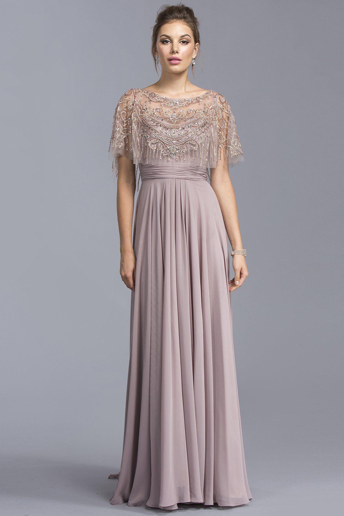6455ba0be6d Soft Illusion Long Formal Dresses With Mantle APM2070