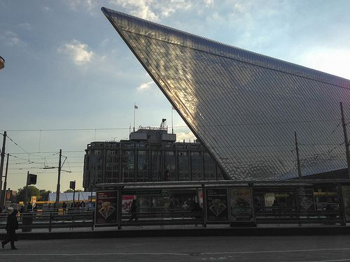 Sideview Rotterdam central station