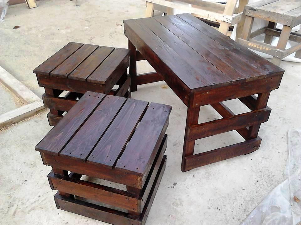 Best Wooden Pallet Coffee Table And Side Table Set Pallet 400 x 300