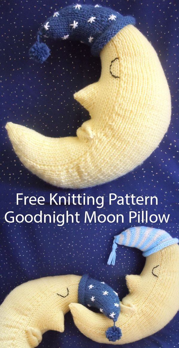 Free Knitting Pattern for Goodnight Moon Pillow