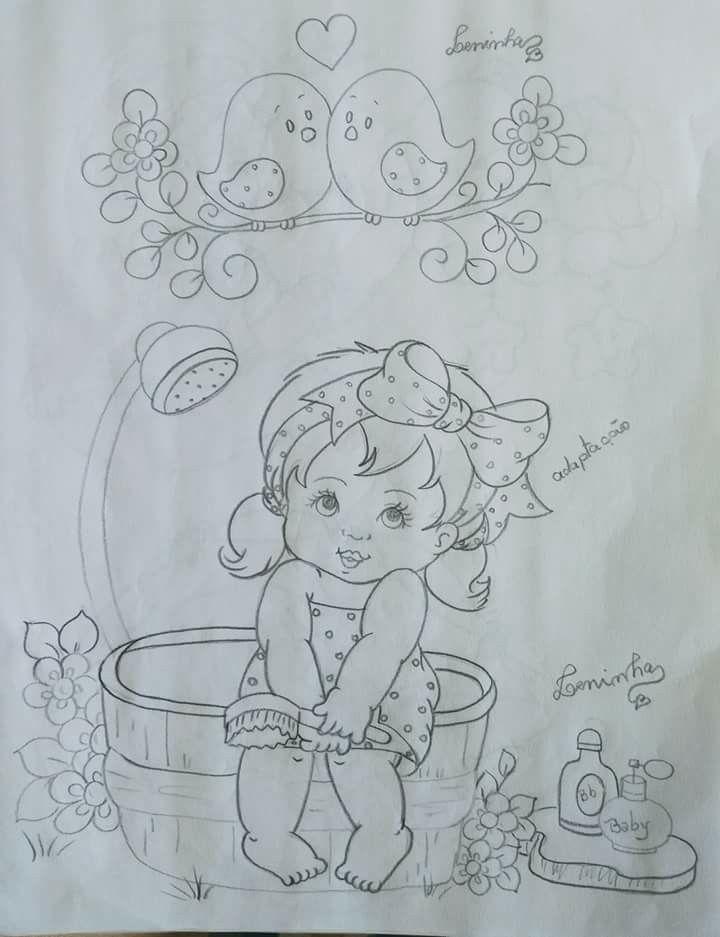 Pin de Marcia Victoria en Porcelana fría   Pintura en tela, Dibujos ...