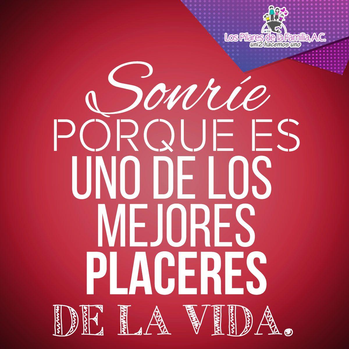 Frases Sonreír Placeres Placer Vida Frases Positivas