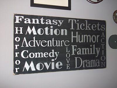 DIY Cinema Wall Art | Home Decor | Pinterest | Cinema, Walls and ...