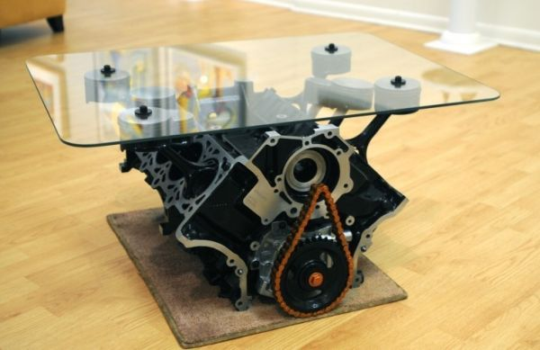 How To Make A Coffee Table By Using Real 4 6l Mustang Engine