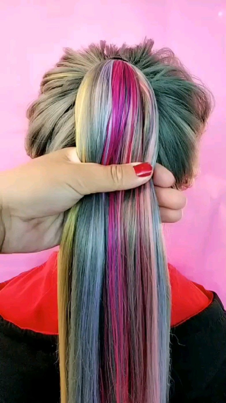Colorful hairstyle