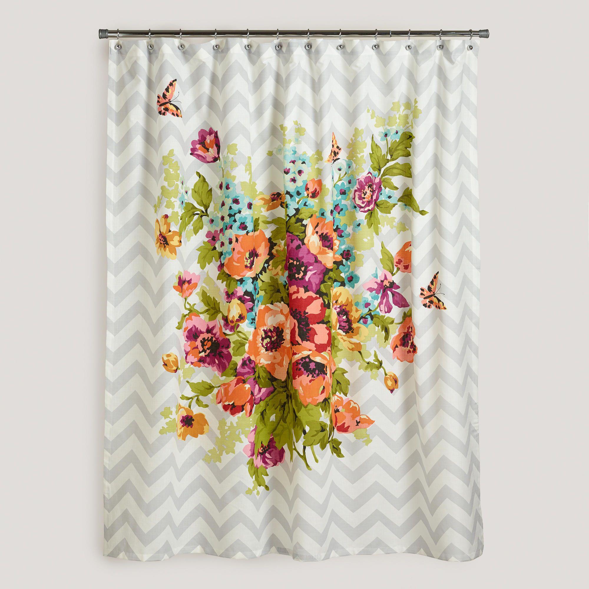 Charming Floribunda Shower Curtain
