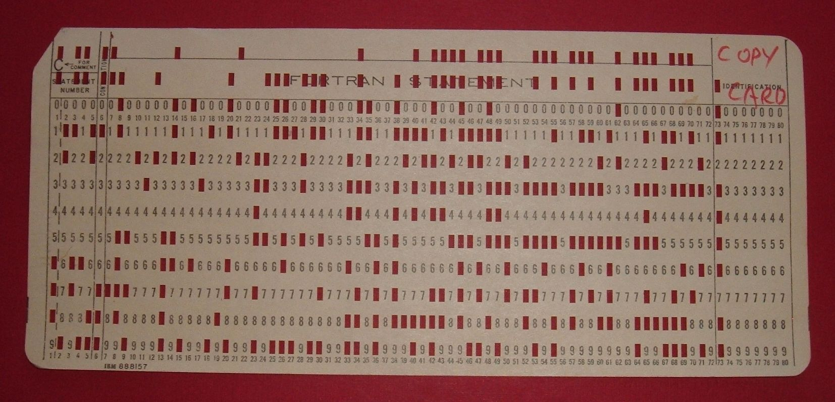 Punch Keypunch IBM Vintage USED 5081 And 888157 Lot of 10 DATA CARDS