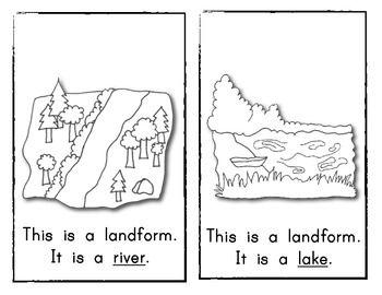 What Type of Landform Is It? Reader #2 Kindergarten
