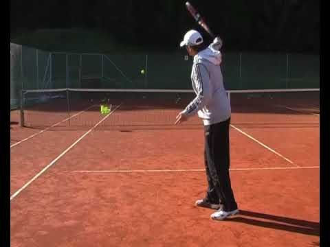 One Handed Backhand Drill 7 One And Two Tennis Drills Drill