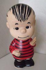 """TRUE Vintage Original Peanuts Linus 9"""" Vinyl Doll -1958 by Hungerford Squeak Toy"""