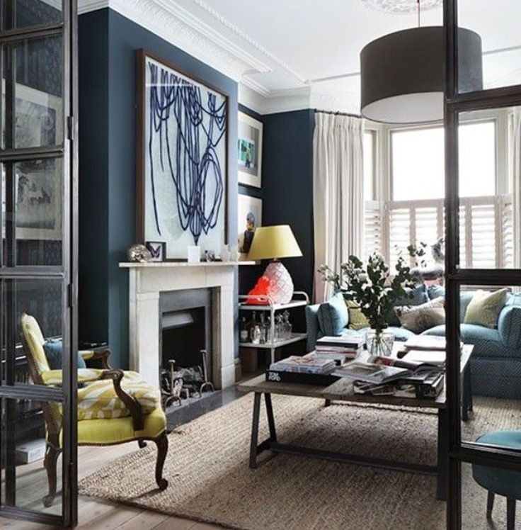 Pin By Melinda Laudy On Moody Blues Browns Navy Living Rooms