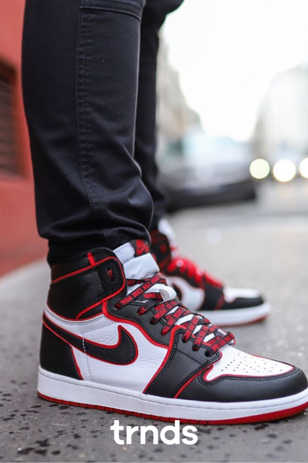 Air Jordan 1 Meant To Fly Bred 555088 062 In 2020 Air Jordans Nike Shoes Women Womens Fashion Sneakers
