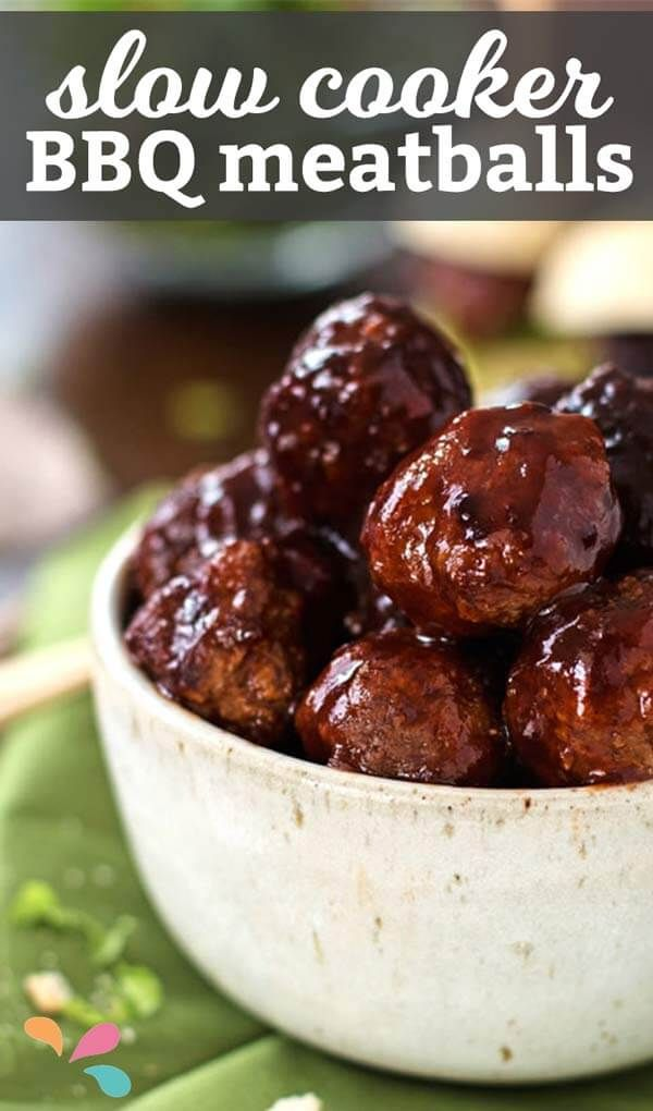 BBQ Venison Meatballs slow cooked in a savory bbq sauce