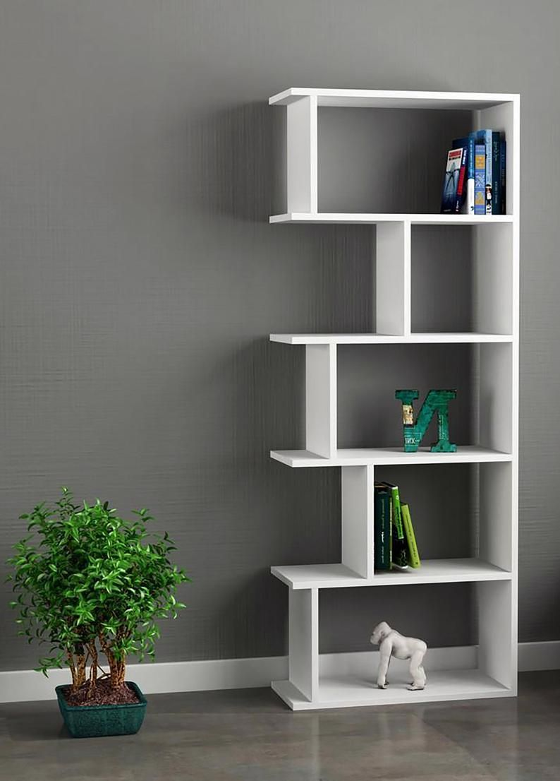 Wood Bookcase With 5 Shelves Multi Color Bookshelf White Bookshelves Solid Wood Bookcase In 2021 White Bookshelves Bookcase Wood Bookcase