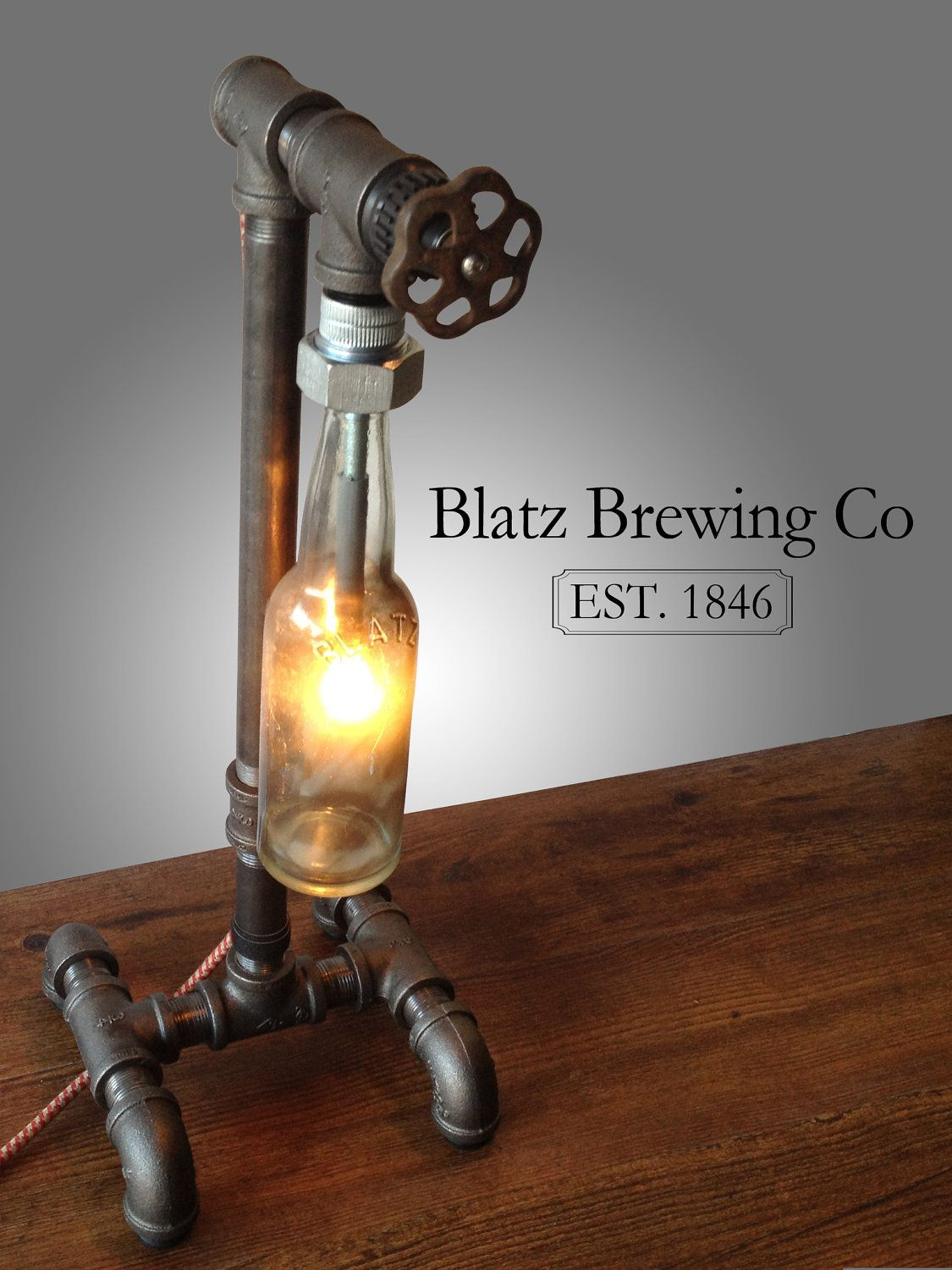 etsy industrial lighting. Items Similar To Industrial Brewery Lamp - Blatz Brewing Company Steampunk Fixture Bar Decor Lighting On Etsy I
