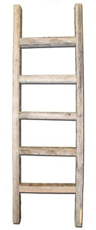 Rustic Barn Wood Decorative 4' Ladder Extremely Primitive! This Is NOT NEW Wood!