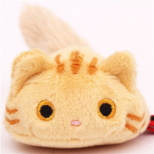 Round Brown Tabby Mini Kutusita Nyanko Cat Plush Toy Cat Stuff