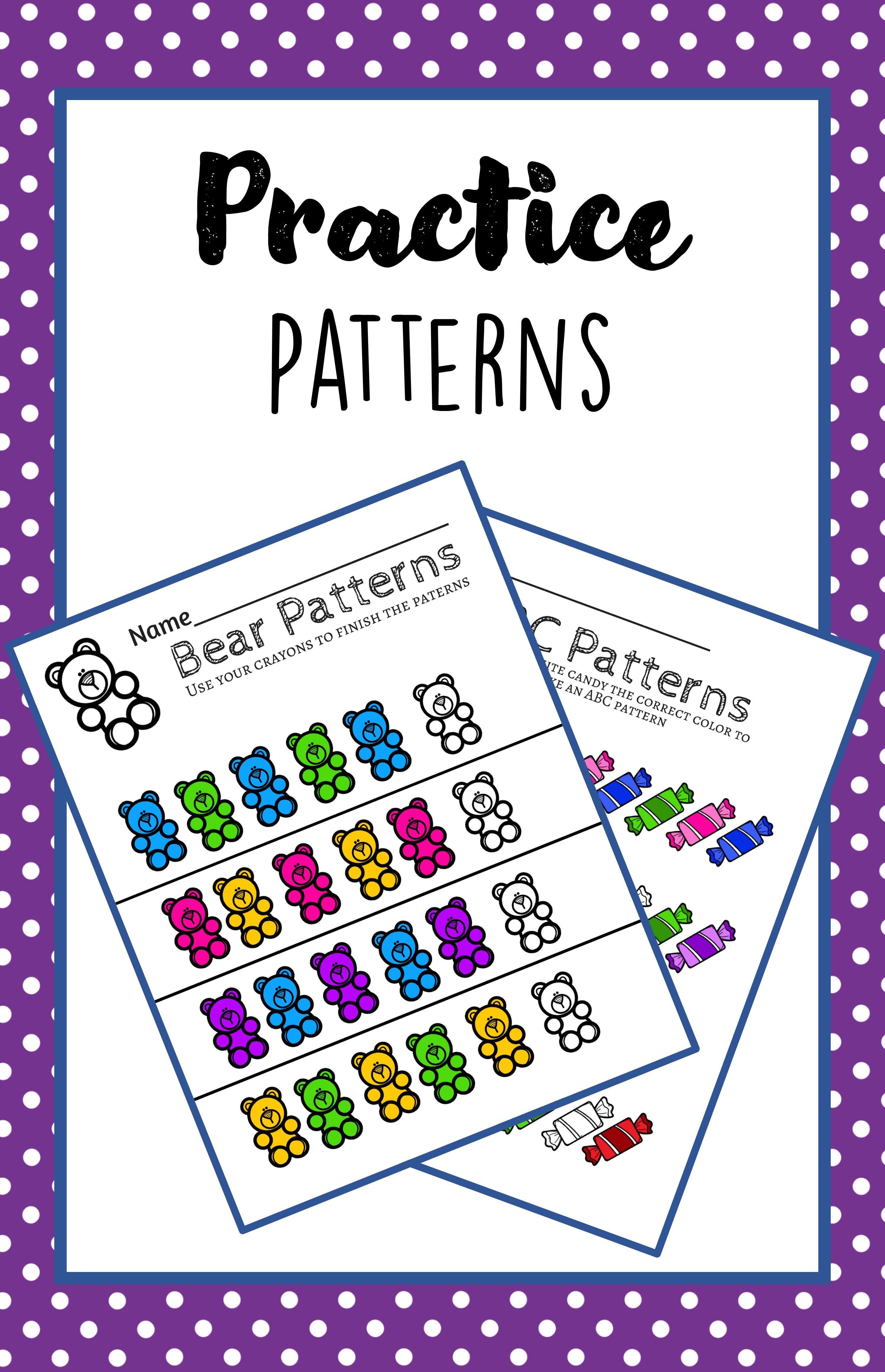 Preschool Prek Math Patterns Math Patterns Prek Math Math For Kids [ 4650 x 3000 Pixel ]