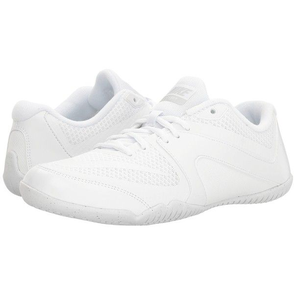 on sale c5800 e3b91 Nike Cheer Scorpion (White White Pure Platinum) Women s Cross Training...  ( 83) ❤ liked on Polyvore featuring shoes, athletic shoes, grip shoes, cr…