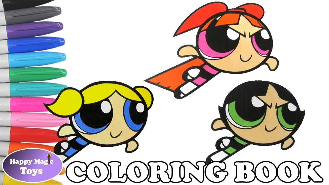 The Powerpuff Girls Coloring Episode 13 – Blossom, Bubbles and ...