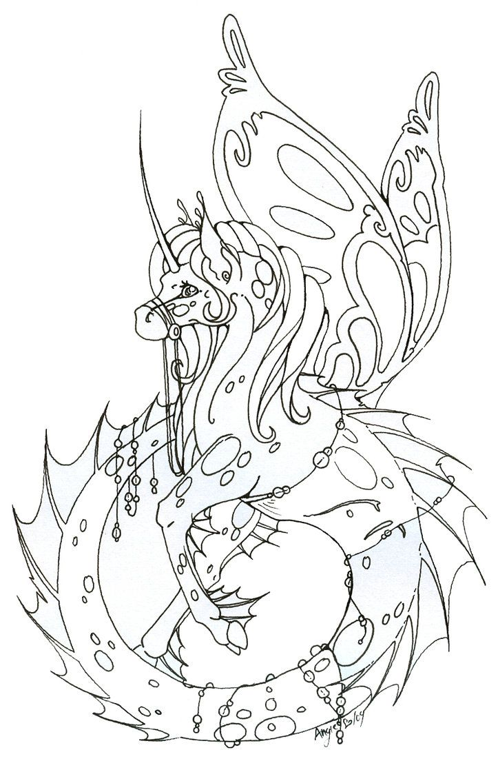 Full View Okay Not Totally Sure What To Do With This One Maybe Watercolor T T Maybe I Dunno Ye Dragon Coloring Page Fairy Coloring Book Fairy Coloring Pages