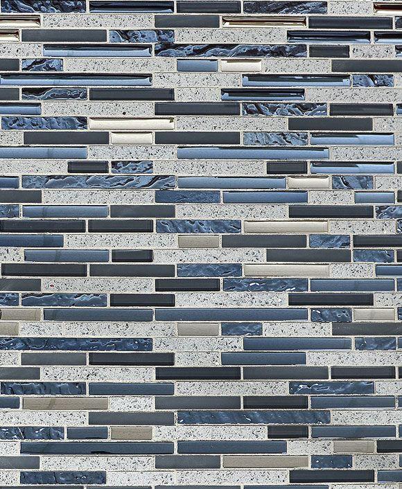 Blue Gray Glass Quartz Mosaic Tile Let This Blue Gray Subway