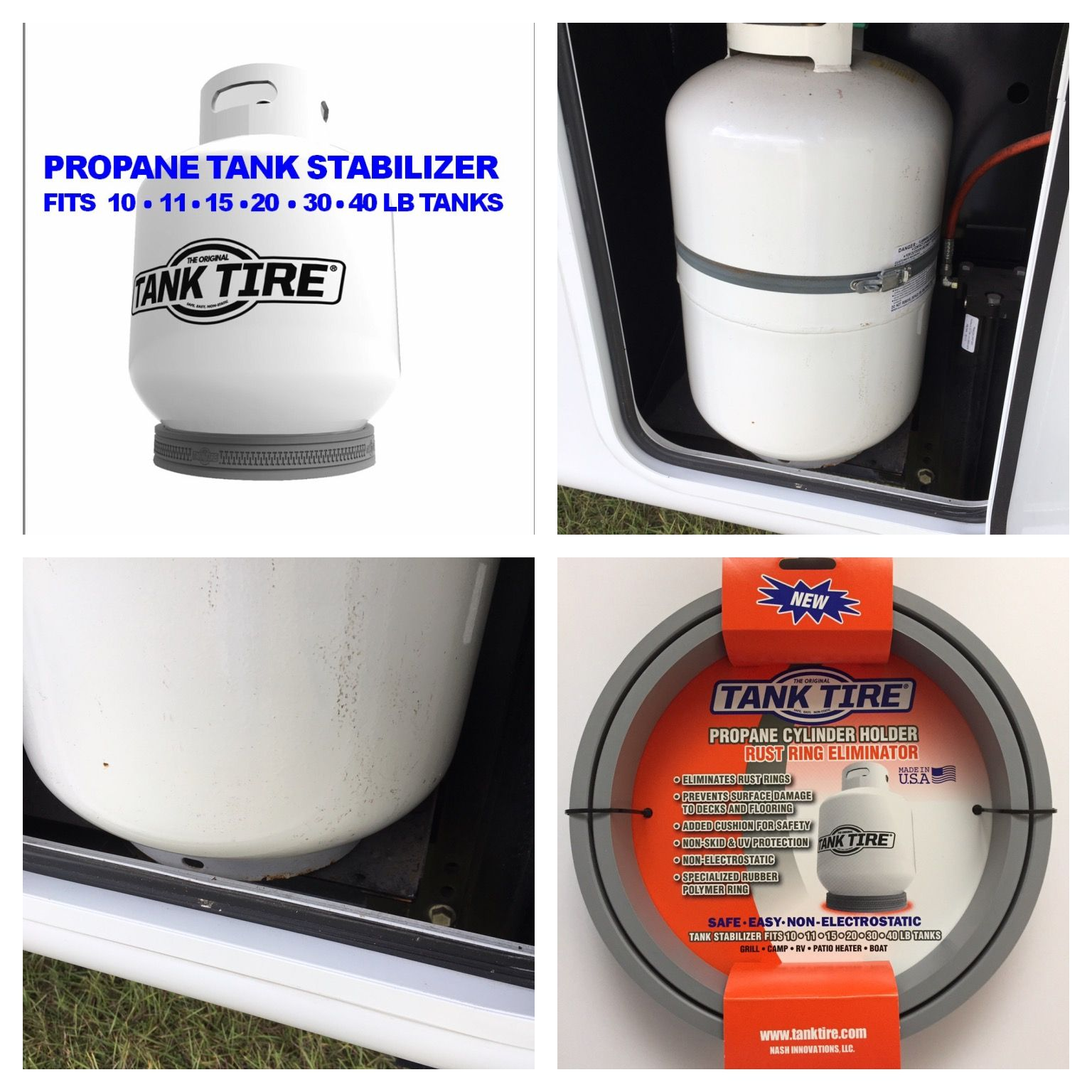 Brand New 30 Lb Propane Tank On An Rv Already Rusting Tank Tire Is The Only Product On The Market That Can Fit A Propane Tank Propane Cylinder Wheel Repair