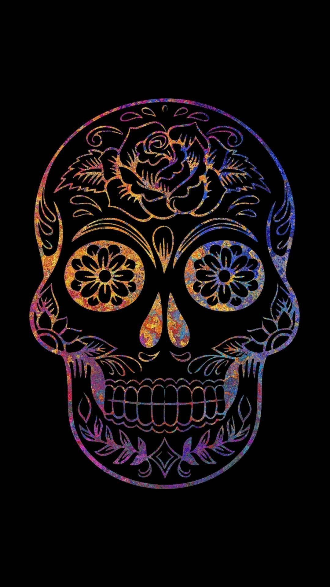 Feminine Sugar Skull Wallpaper Mobile Is Best Wallpaper On Flowerswallpaper Info If You Like It Iphone In 2020 Skull Wallpaper Sugar Skull Wallpaper Skull Pictures