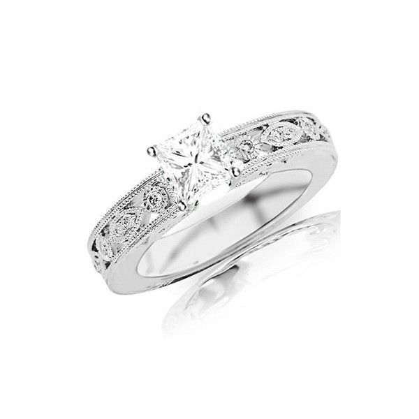 affordable carat princess cut antique diamond engagement ring on sale - Wedding Rings On Sale