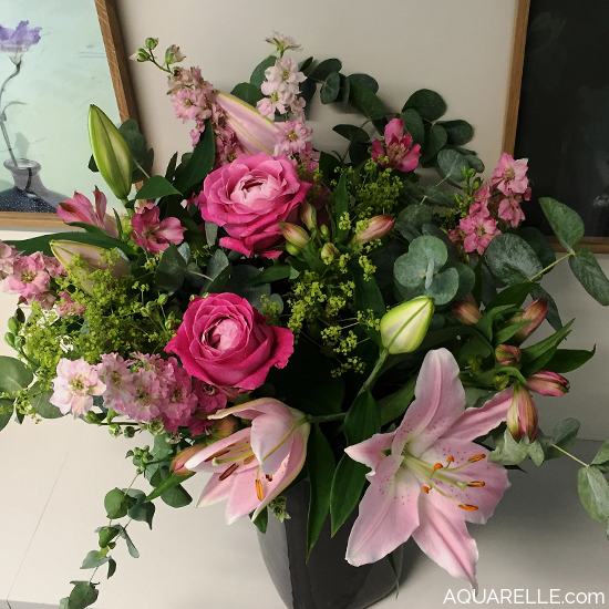 Grand bouquet romantique bouquet fleurs flowers for Envoi fleurs domicile