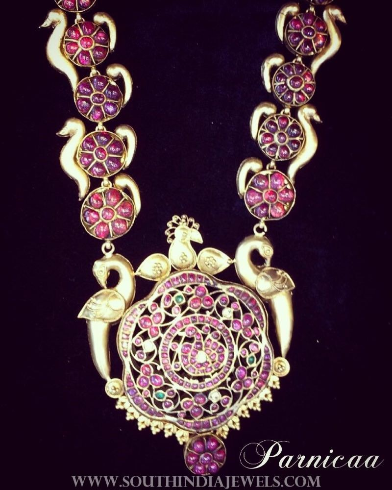ruby set kempu stone online necklace antique designer