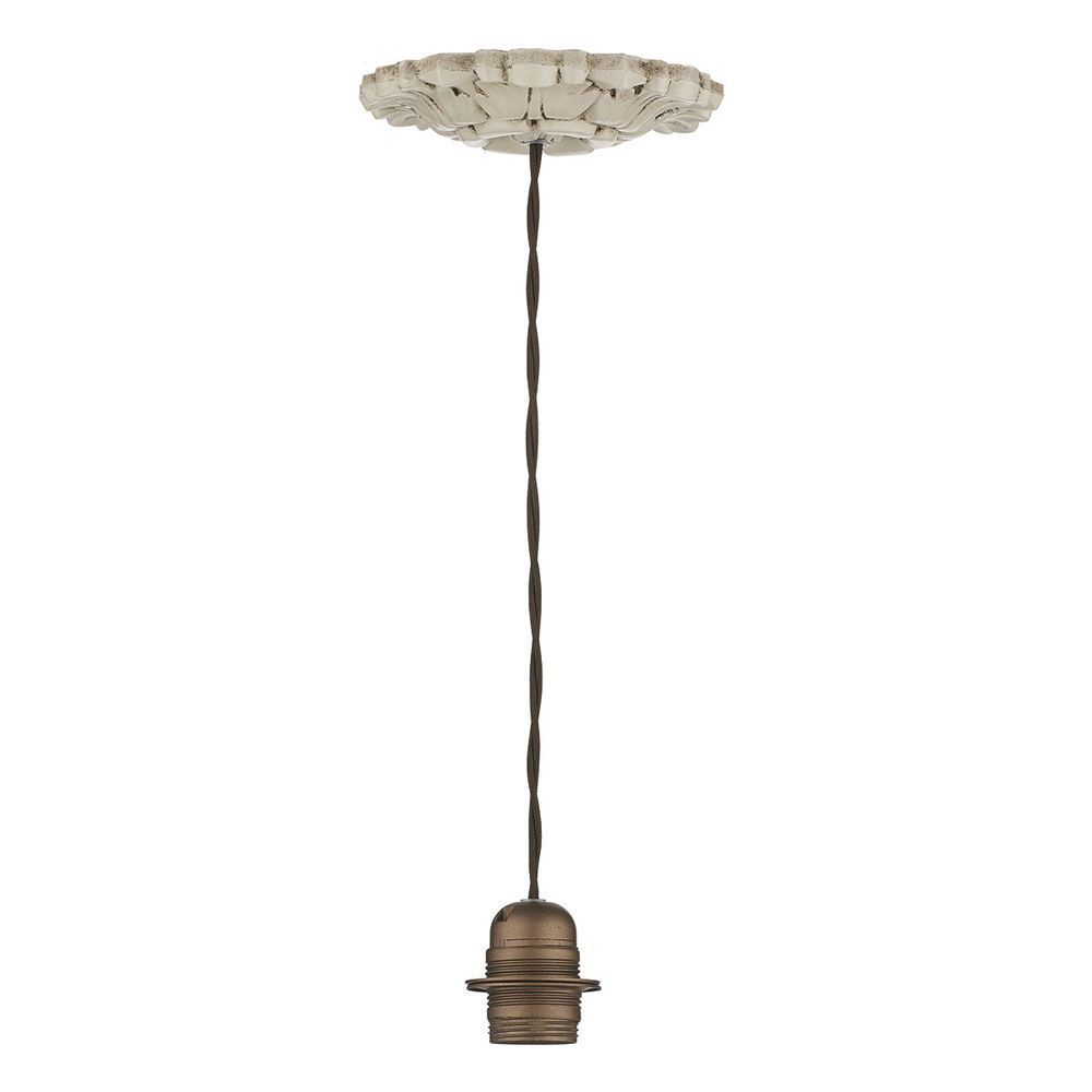Dar chatsworth suspension kit with distressed old ivory effect affordable lighting modern lighting dusk lighting aloadofball Image collections