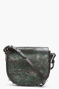 fec42bb53 Alexander Wang Black Studded Iridescent Stingray Leather Lia Saddle Bag on  shopstyle.com