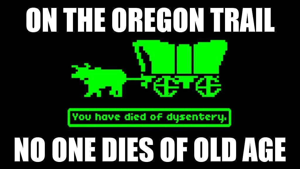 Image result for oregon trail dysentery meme