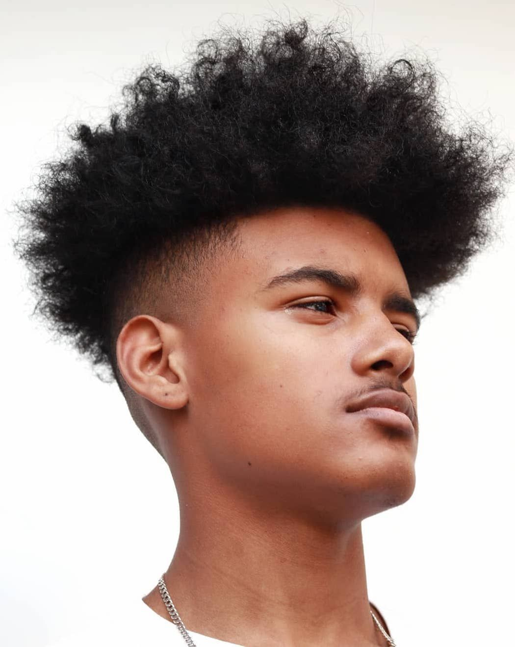 African American Teenage Boys With Curls Taper Fade Curly Hair Taper Fade Haircut Curly Hair Styles