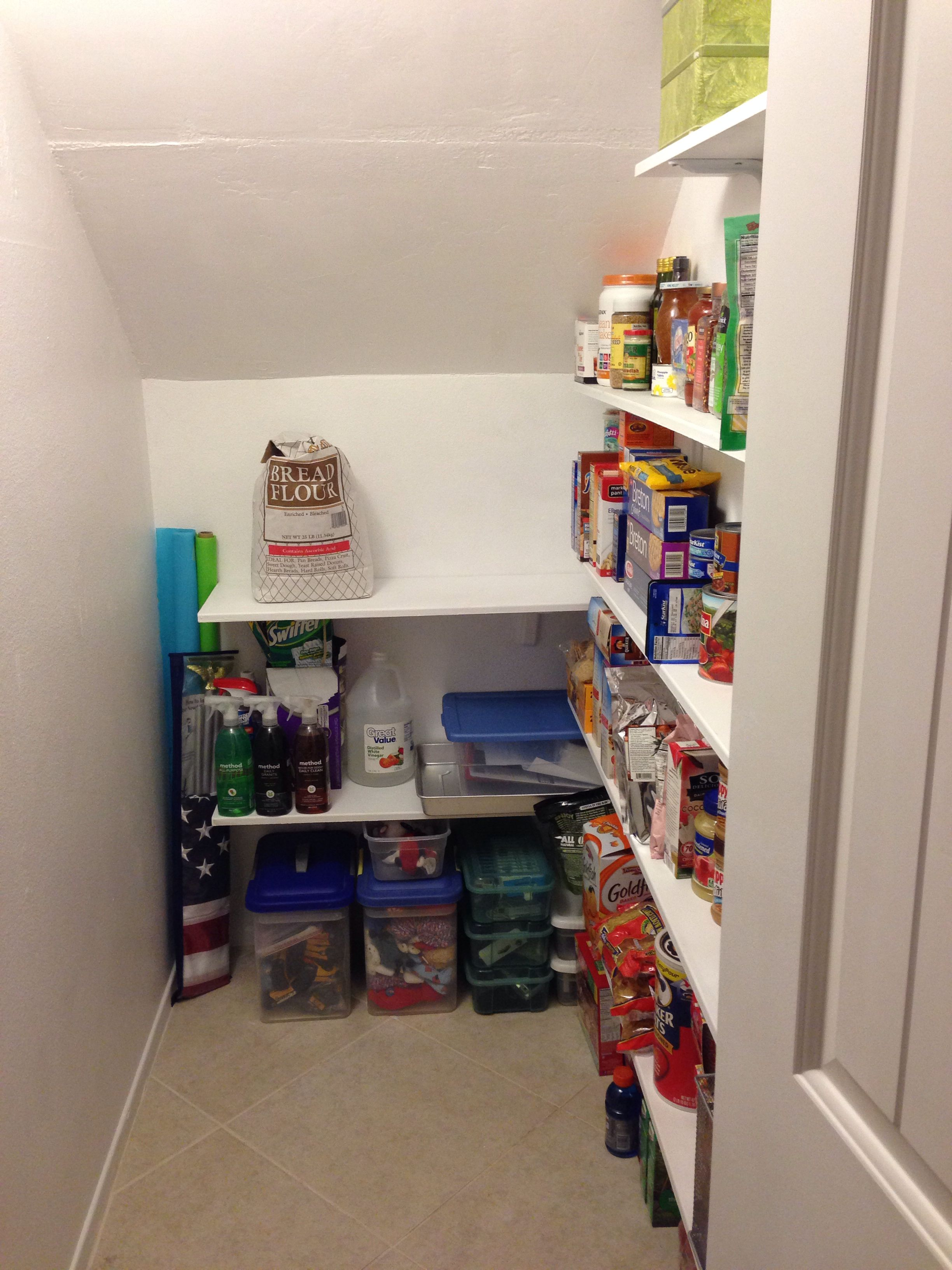 Under Stairs Coat Closet Turned Pantry More