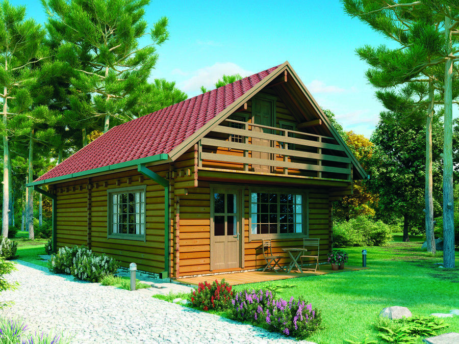 1000sq Ft 19 X34 Split Level Log Cabin Guest Vacation Pool House Diy Building Kit Baltic Spruce Tinyhouse Cabins Log Homes Building A Shed Cabin