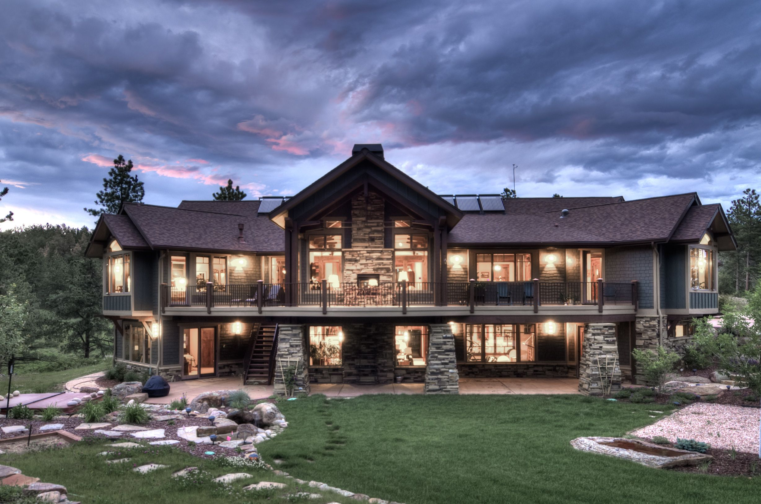 Amazing Mountain Craftsman House Plans #10: Mountain Craftsman Style House Plans | Breathtaking Exterior View Of The  Mountain-Craftsman Style Home